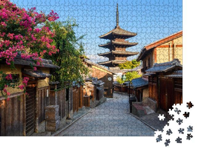 """Puzzle 1000 Teile """"Altstadt von Kyoto: Higashiyama-Viertel mit traditioneller Straße"""""""