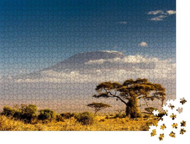 """Puzzle 1000 Teile """"Blick auf den Kilimanjaro, Tansania"""""""