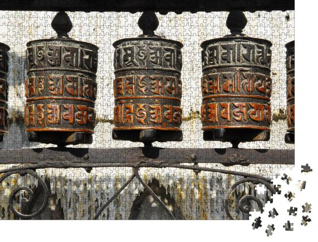 "Puzzle 1000 Teile ""Wunderschöne Gebetsmühlen, Kathmandu, Nepal"""