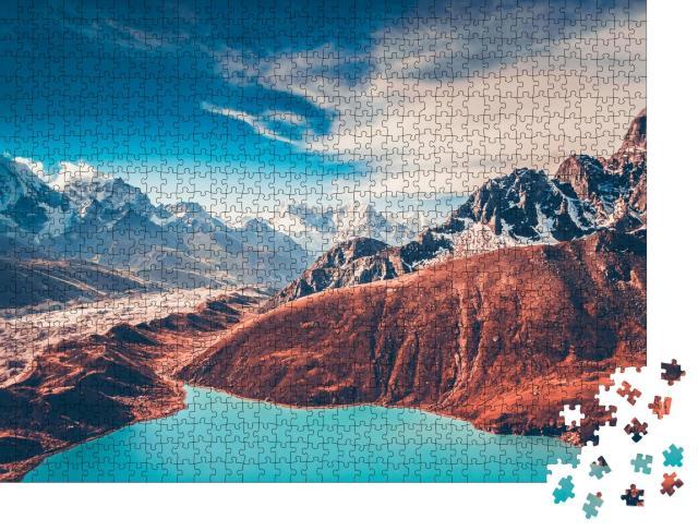 """Puzzle 1000 Teile """"Türkisfarbener Bergsee im Hiimalaya-Gebirge"""""""
