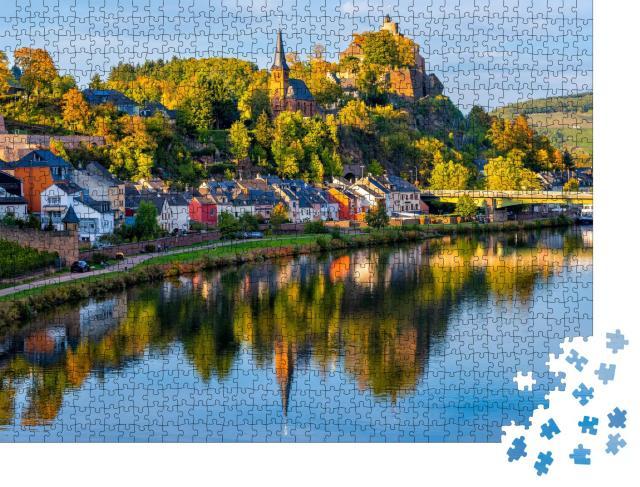 """Puzzle 1000 Teile """"Mittelalterliche Stadt Saarburg im Herbst, Saarland, Deutschland"""""""