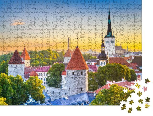 """Puzzle 1000 Teile """"Skyline der Stadt Tallinn, Estland"""""""