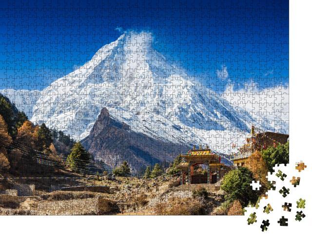 """Puzzle 1000 Teile """"Mount Manaslu im Himalaya, Nepal"""""""