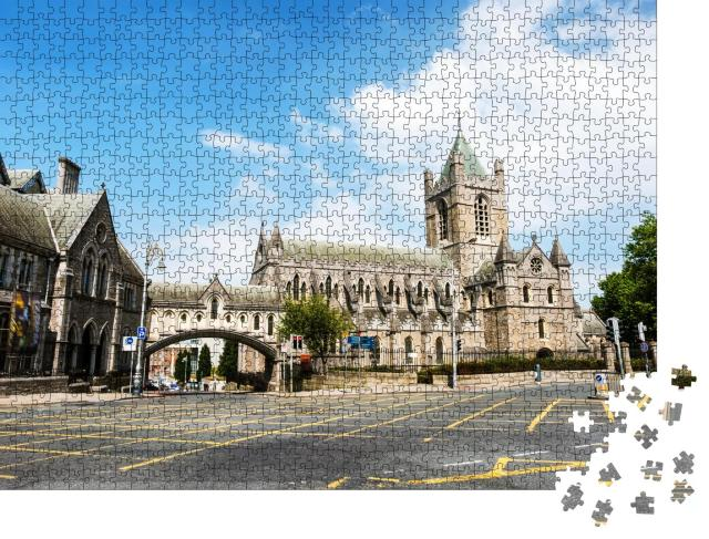 """Puzzle 1000 Teile """"Alte Christ Church Cathedral in Dublin, Irland"""""""