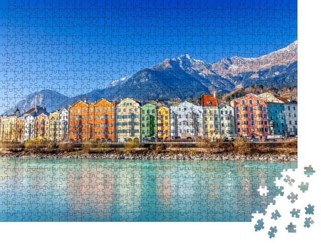 """Puzzle 1000 Teile """"Stadtbild von Innsbruck, Österreich"""""""