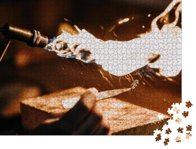"""Puzzle 1000 Teile """"Goldschmiederei, ein Kunsthandwerk"""""""