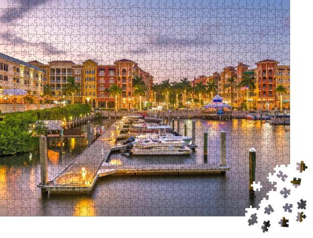 """Puzzle 1000 Teile """"Skyline von Naples mit Wasser, Florida, USA"""""""