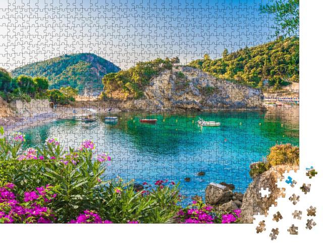 """Puzzle 1000 Teile """"Bucht von Paleokastritsa auf der Insel Korfu, Griechenland"""""""