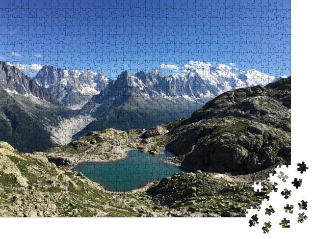 """Puzzle 1000 Teile """"Lac Blanc, Mont Blanc bei Chamonix-Mont-Blanc"""""""