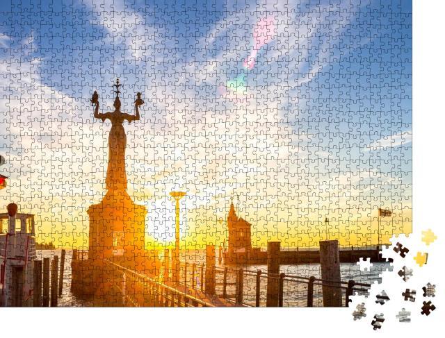 """Puzzle 1000 Teile """"Imperia-Statue in Konstanz, Bodensee, Deutschland"""""""