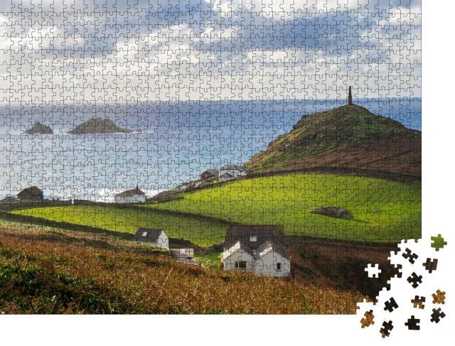 """Puzzle 1000 Teile """"Landzunge am Kap Cornwall, England, Europa"""""""