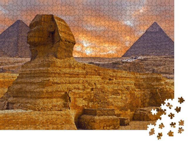 """Puzzle 1000 Teile """"Blick auf die Sphinx in der Sahara, Ägypten"""""""