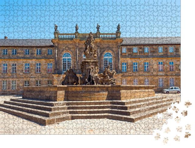 """Puzzle 1000 Teile """"Historischer Markgrafenbrunnen in Bayreuth, Deutschland"""""""