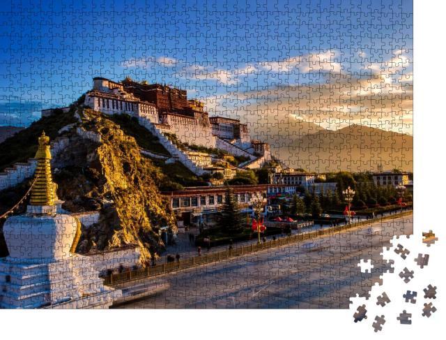 "Puzzle 1000 Teile ""China Tibet, Lhasa: Potala-Palast, ehemaliger Palast des Dalai Lama"""