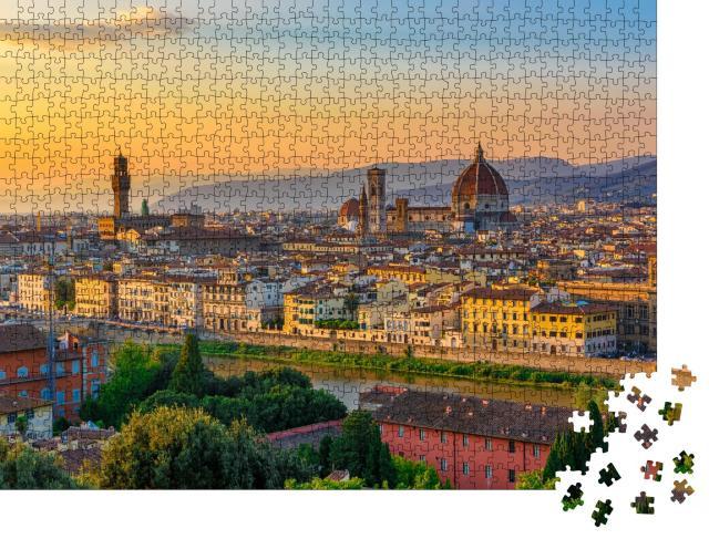 "Puzzle 1000 Teile ""Sonnenuntergang über Florenz"""