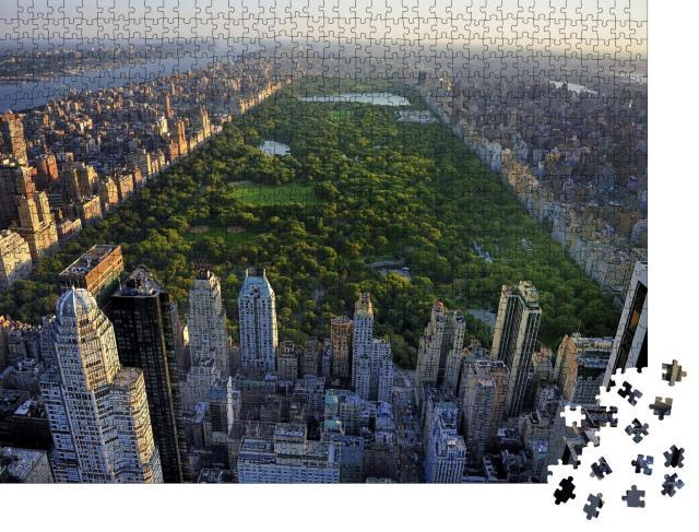 """Puzzle 1000 Teile """"Central Park und Wolkenkratzer von Manhattan, New York"""""""