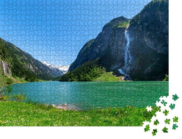 """Puzzle 1000 Teile """"Wunderschöner Naturpark Zillertaler Alpen, Österreich, Tirol"""""""