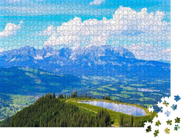 """Puzzle 1000 Teile """"Panoramablick über den Wilden Kaiser bei Kitzbühel, Österreich"""""""