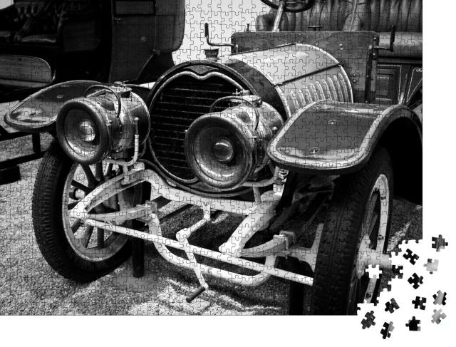 """Puzzle 1000 Teile """"Vintage Classic Oldtimer, schwarz-weiß"""""""