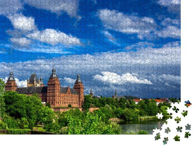 """Puzzle 1000 Teile """"Malerisches Schloss Johannisburg in Aschaffenburg, Deutschland"""""""