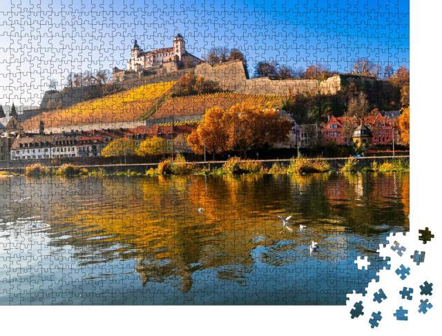 """Puzzle 1000 Teile """"Wunderschöne mittelalterliche Stadt Würzburg"""""""