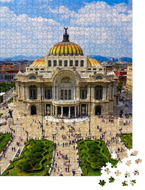 """Puzzle 1000 Teile """"Luftansicht von Mexiko-Stadt"""""""