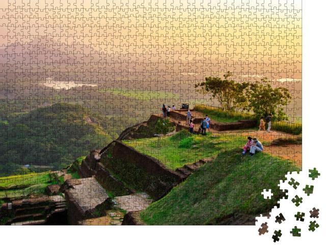 "Puzzle 1000 Teile ""Beeindruckender Sigiriya-Felsen, Sri Lanka"""