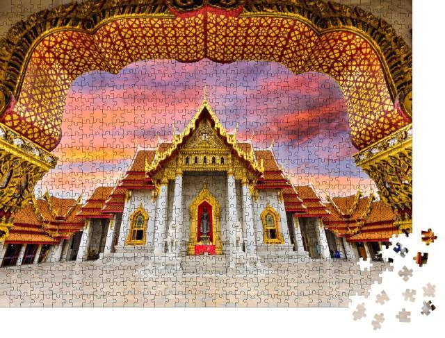 "Puzzle 1000 Teile ""Prächtiger Marmortempel in Bangkok, Thailand"""