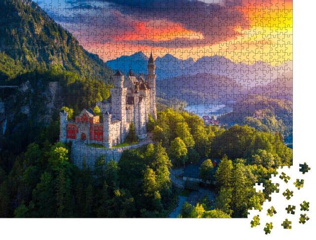 """Puzzle 1000 Teile """"Schloss Neuschwanstein bei Füssen, Bayern"""""""