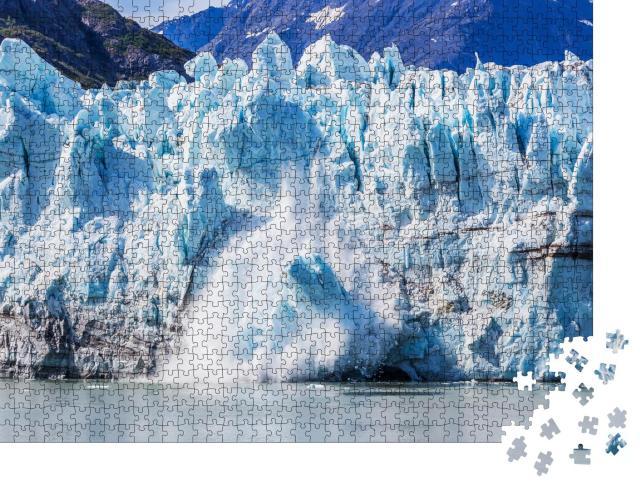 """Puzzle 1000 Teile """"Eisabbau am Margerie-Gletscher im Glacier Bay National Park, Alaska"""""""