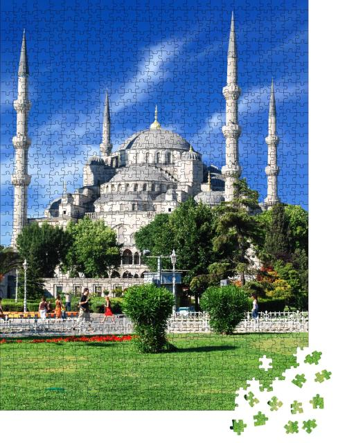 """Puzzle 1000 Teile """"Blaue Moschee von Istanbul, Türkei"""""""