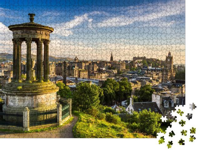"""Puzzle 1000 Teile """"Schöne Aussicht auf die Stadt Edinburgh, Schottland"""""""