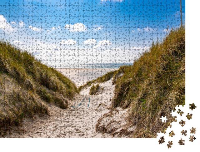 """Puzzle 1000 Teile """"Amrum - malerischer Weg zum Strand"""""""