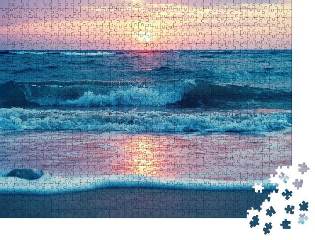 "Puzzle 1000 Teile ""Sonnenaufgang am Waimanalo Beach auf Oahu, Hawaii"""