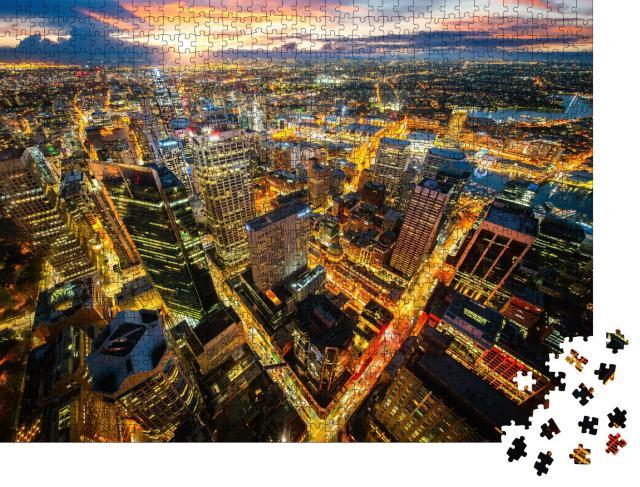 """Puzzle 1000 Teile """"Stadtbild von Sydney im Sonnenuntergang"""""""