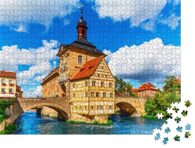 """Puzzle 1000 Teile """"Sommer in der Altstadt von Bamberg, Deutschland"""""""
