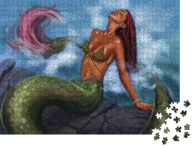 """Puzzle 1000 Teile """"Fabelwesen: Die wunderschöne Meerjungfrau"""""""
