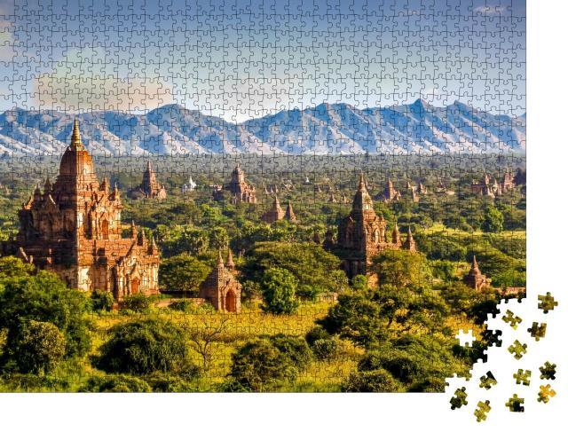 "Puzzle 1000 Teile ""Pagoden und Tempel von Bagan in Myanmar"""