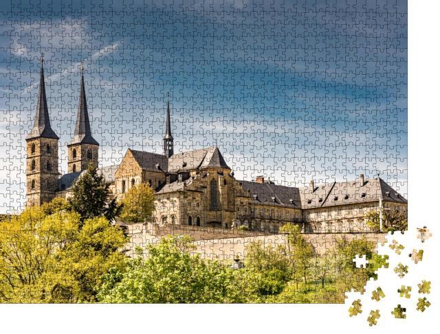 """Puzzle 1000 Teile """"Kloster Michelsberg in Bamberg, Deutschland"""""""