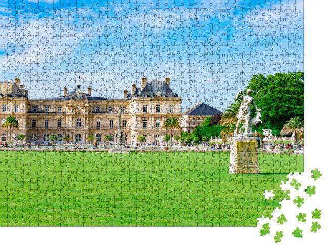 """Puzzle 1000 Teile """"Senat und Luxemburgischer Garten in Paris, Frankreich"""""""