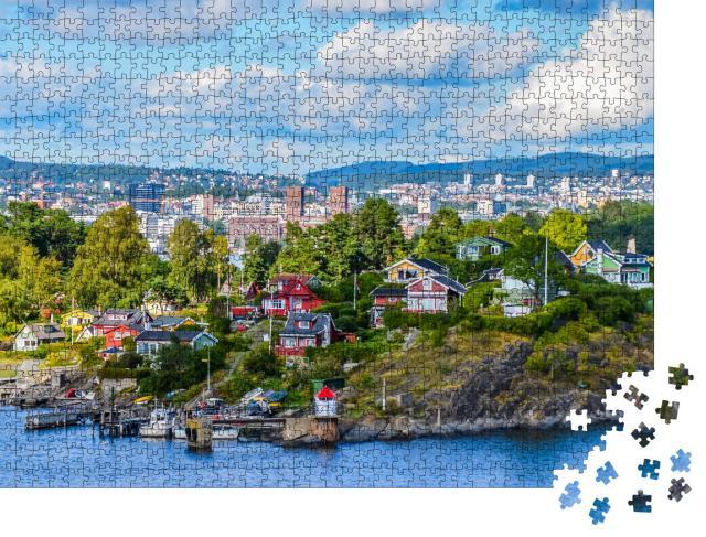 """Puzzle 1000 Teile """"Oslo, eine Stadt am Fjord"""""""