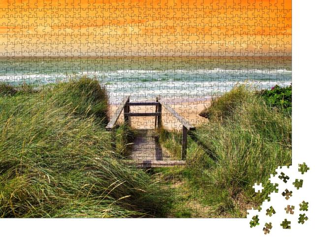 """Puzzle 1000 Teile """"Dänische Küste bei sommerlichem Wetter"""""""