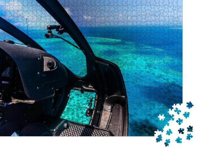 """Puzzle 1000 Teile """"Hubschrauberflug über das Moore Reef,  Australien"""""""