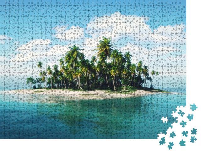 """Puzzle 1000 Teile """"Insel im Ozean, Illustration"""""""