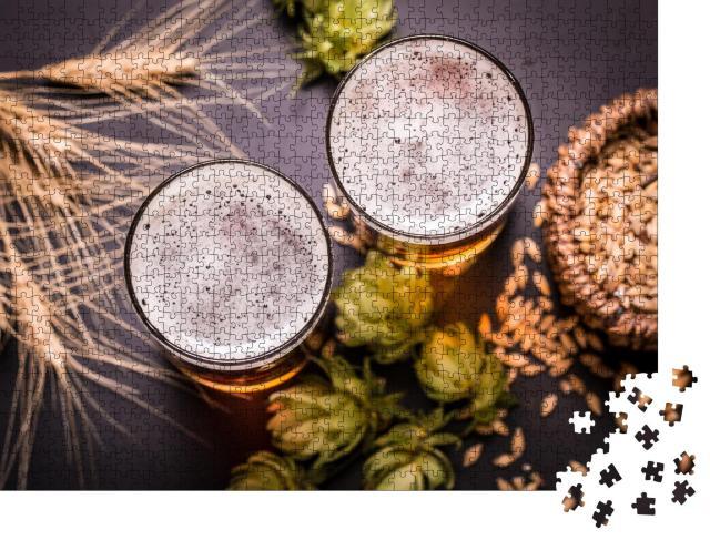 """Puzzle 1000 Teile """"Frisches Bier, bereit zur Verkostung"""""""