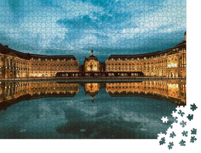 """Puzzle 1000 Teile """"Place De La Bourse in Bordeaux, Frankreich, UNESCO-Weltkulturerbe"""""""