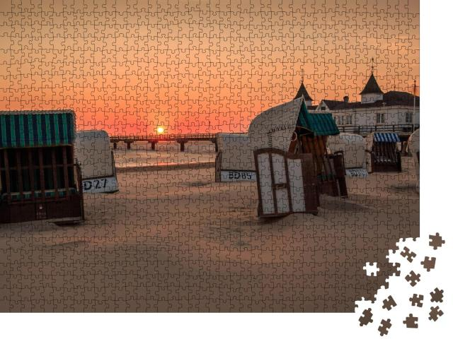 """Puzzle 1000 Teile """"Pier Ahlbeck, Ostsee, Insel Usedom"""""""
