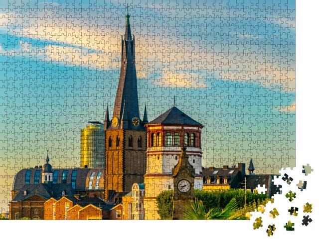 """Puzzle 1000 Teile """"St. Lambertus-Kirche in Düsseldorf, Deutschland"""""""