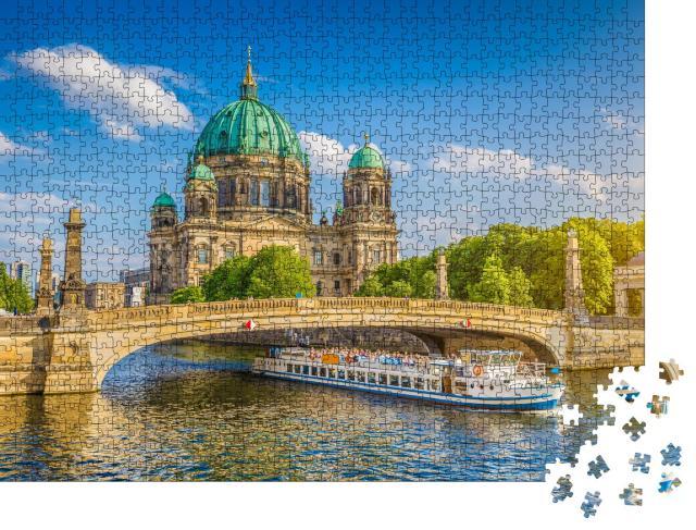 """Puzzle 1000 Teile """"Berliner Dom und Museumsinsel an der Spree, Berlin, Deutschland"""""""