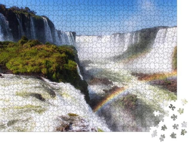 """Puzzle 1000 Teile """"Iguazu-Fälle, Iguacu Falls, zwischen Brasilien und Argentinien"""""""
